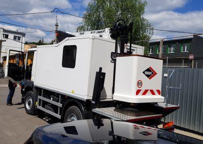 pracovná plošina na nákladnom vozidle MAN